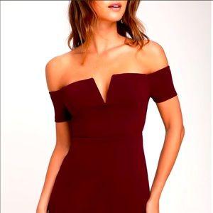Lulus off shoulder mini dress S